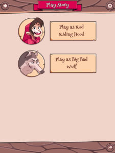 Red Riding Hood Character Screen